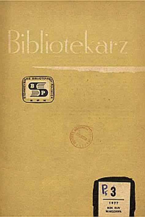 Okładka Bibliotekarz 1977, nr 3