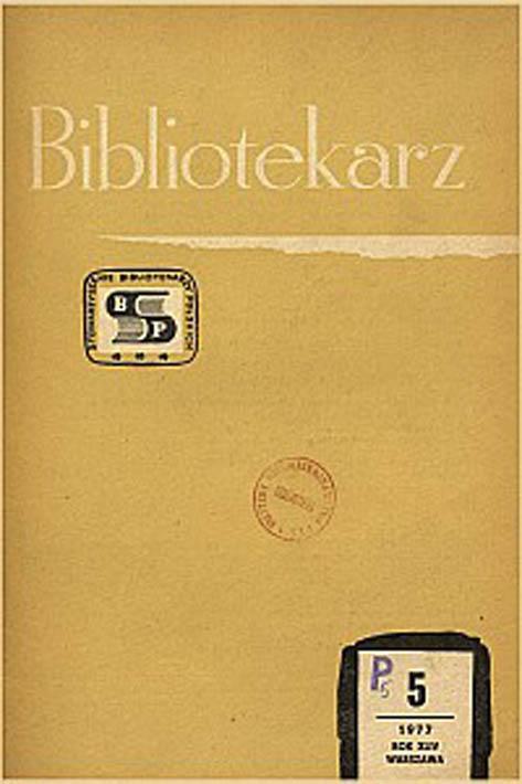 Okładka Bibliotekarz 1977, nr 5
