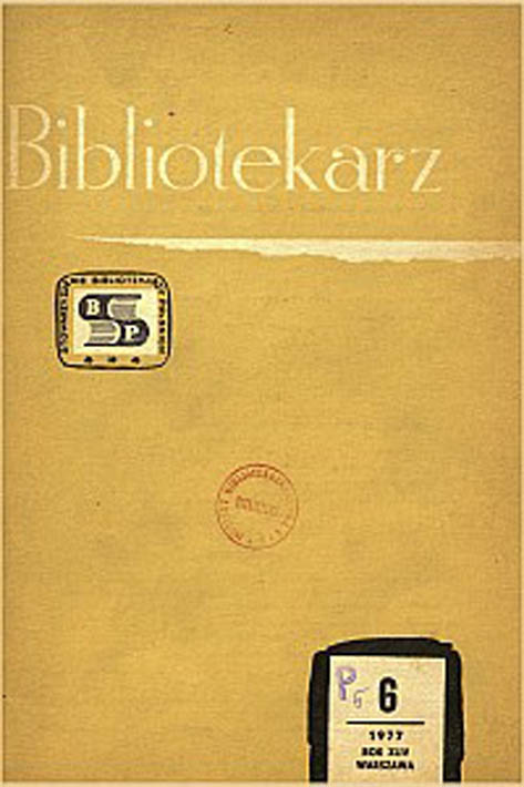 Okładka Bibliotekarz 1977, nr 6