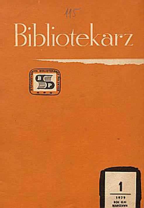 Okładka Bibliotekarz 1979, nr 1