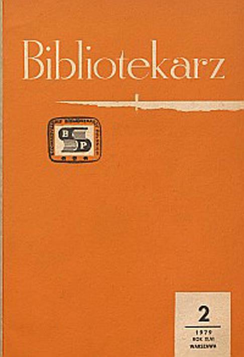 Okładka Bibliotekarz 1979, nr 2
