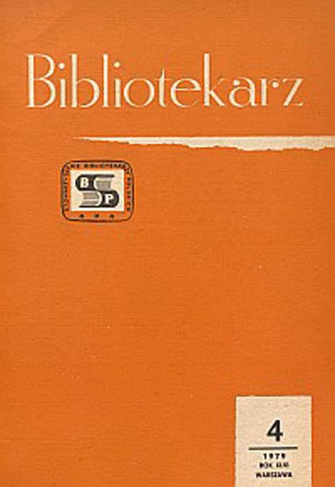 Okładka Bibliotekarz 1979, nr 4