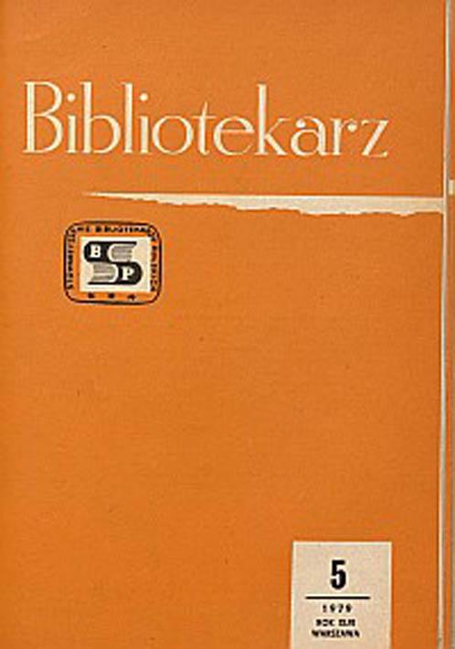 Okładka Bibliotekarz 1979, nr 5