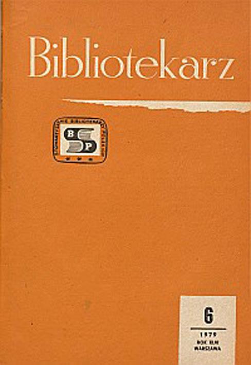 Okładka Bibliotekarz 1979, nr 6