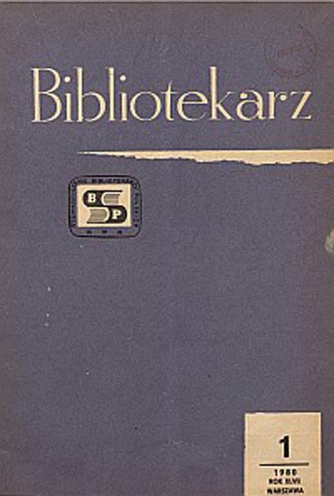 Okładka Bibliotekarz 1980, nr 1