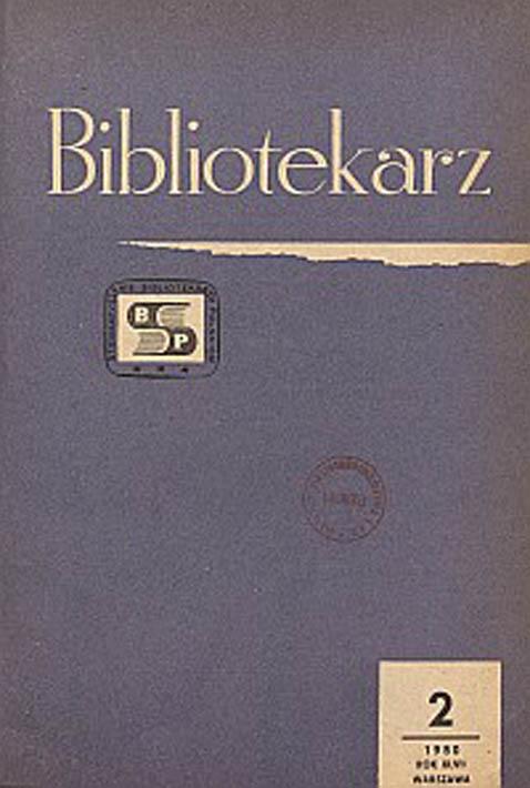 Okładka Bibliotekarz 1980, nr 2