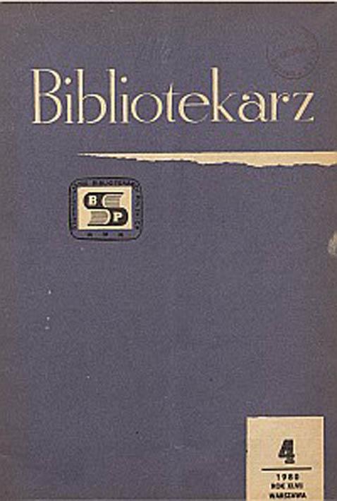Okładka Bibliotekarz 1980, nr 3