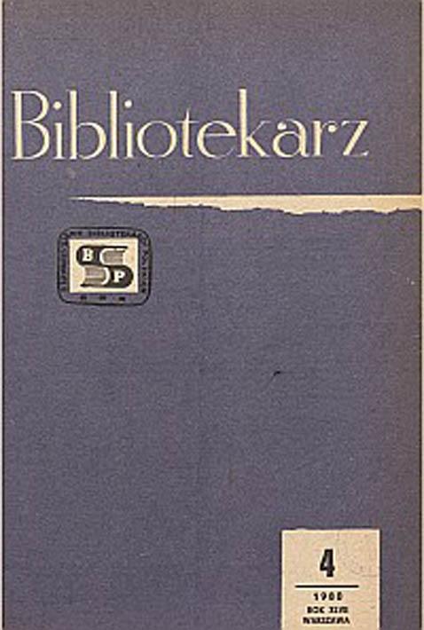 Okładka Bibliotekarz 1980, nr 4