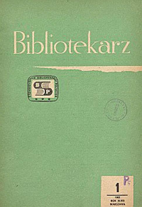 Okładka Bibliotekarz 1981, nr 1