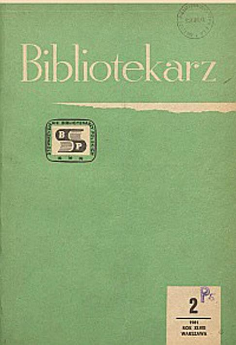 Okładka Bibliotekarz 1981, nr 2