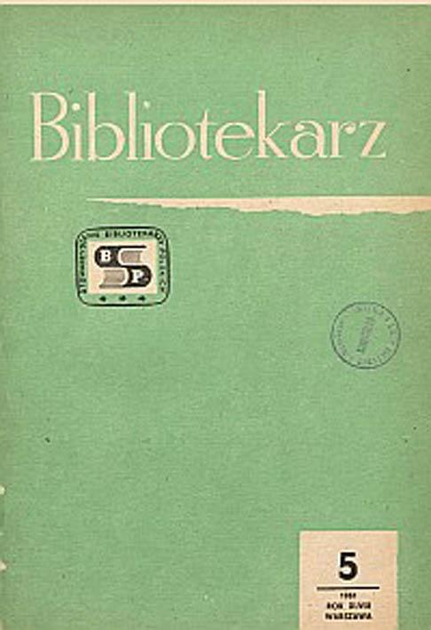 Okładka Bibliotekarz 1981, nr 5