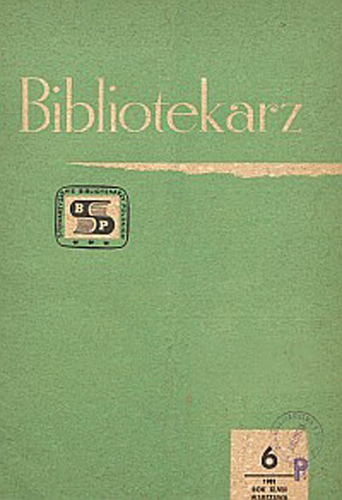 Okładka Bibliotekarz 1981, nr 6