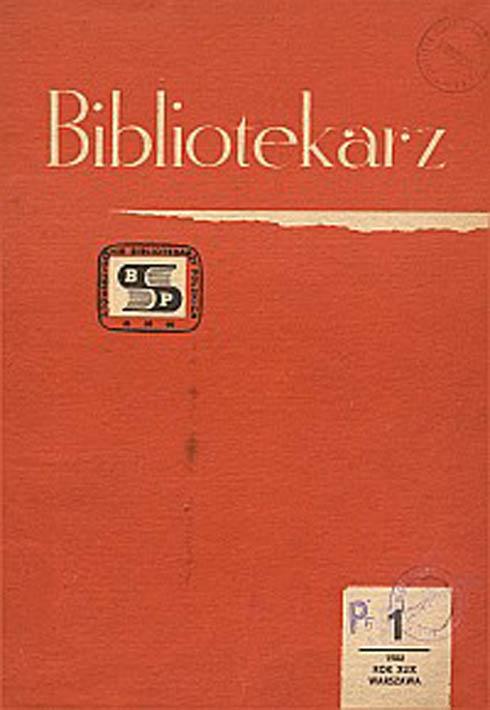 Okładka Bibliotekarz 1982, nr 1