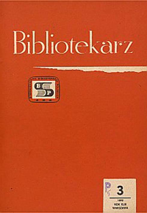 Okładka Bibliotekarz 1982, nr 3