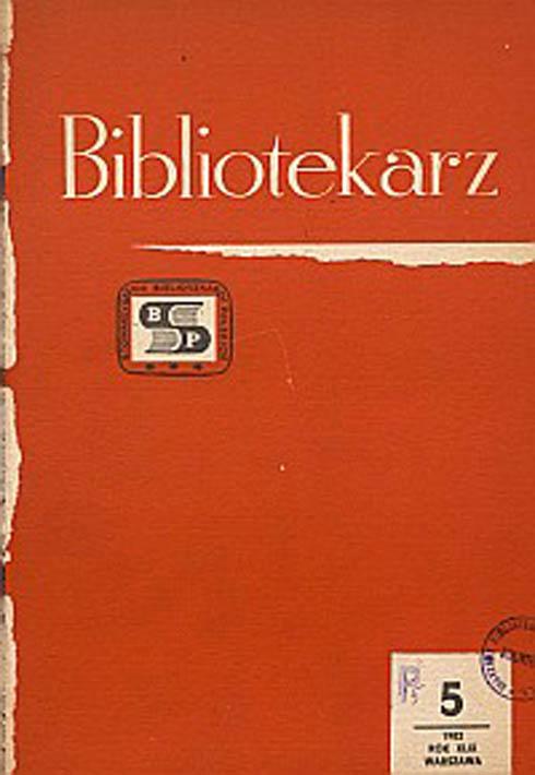 Okładka Bibliotekarz 1982, nr 5