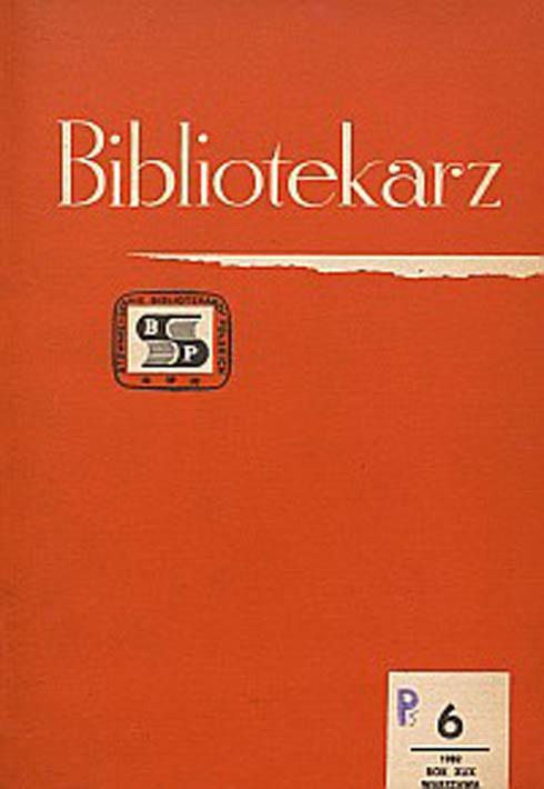 Okładka Bibliotekarz 1982, nr 6