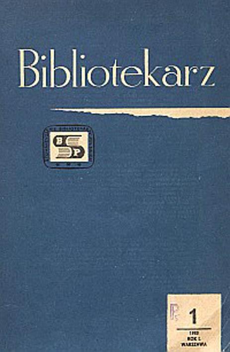 Okładka Bibliotekarz 1983, nr 1