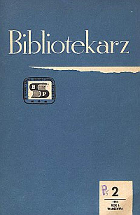 Okładka Bibliotekarz 1983, nr 2