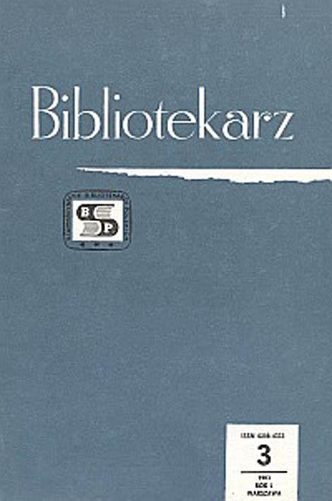 Okładka Bibliotekarz 1983, nr 3
