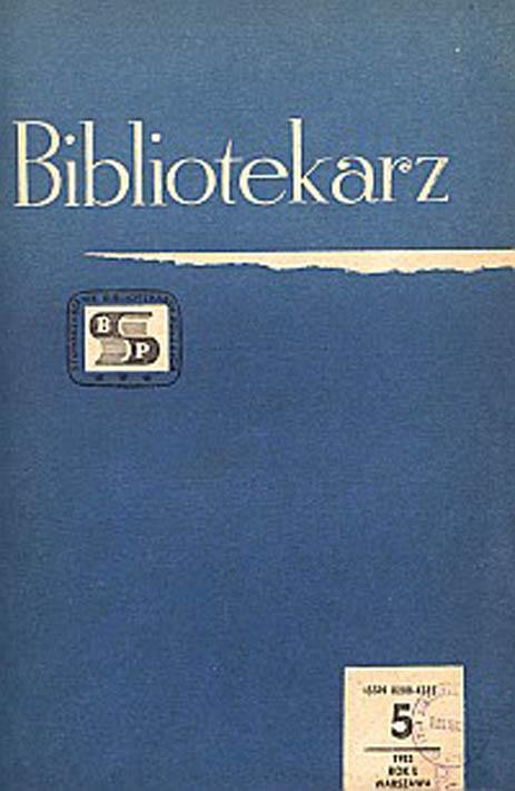 Okładka Bibliotekarz 1983, nr 5