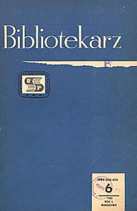 Okładka Bibliotekarz 1983, nr 6