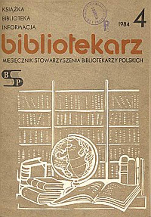Okładka Bibliotekarz 1984, nr 4