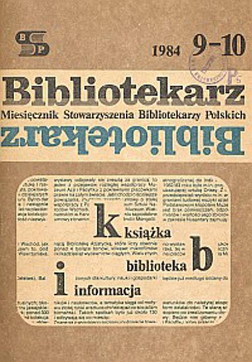 Bibliotekarz 1984, nr 9-10