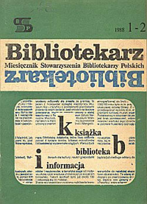 Okładka Bibliotekarz 1988, nr 1-2