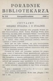 Poradnik Bibliotekarza 1949, nr 2-3