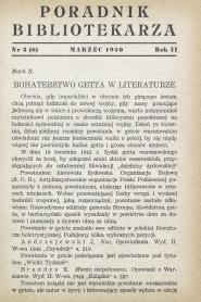 Okładka Poradnik Bibliotekarza 1950, nr 3