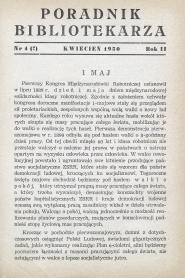 Poradnik Bibliotekarza 1950, nr 4