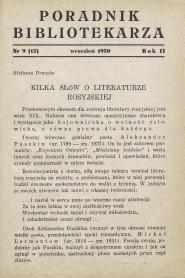 Okładka Poradnik Bibliotekarza 1950, nr 9