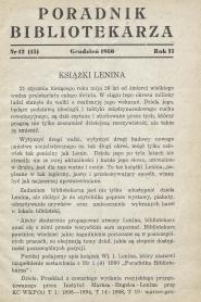 Poradnik Bibliotekarza 1950, nr 12