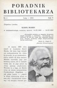 Okładka Poradnik Bibliotekarza 1953, nr 2