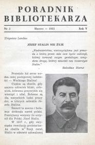 Poradnik Bibliotekarza 1953, nr 3