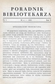 Poradnik Bibliotekarza 1953, nr 5