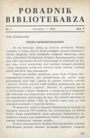 Okładka Poradnik Bibliotekarza 1953, nr 6