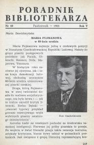 Okładka Poradnik Bibliotekarza 1953, nr 10
