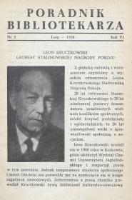 Okładka Poradnik Bibliotekarza 1954, nr 2