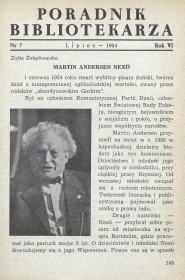 Okładka Poradnik Bibliotekarza 1954, nr 7