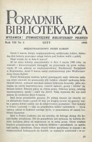 Okładka Poradnik Bibliotekarza 1955, nr 2