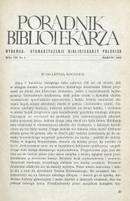 Okładka Poradnik Bibliotekarza 1955, nr 3