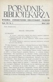 Okładka Poradnik Bibliotekarza 1955, nr 5