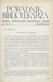 Poradnik Bibliotekarza 1955, nr 6