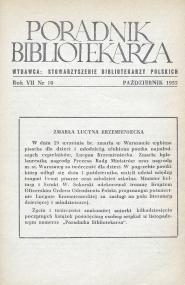 Poradnik Bibliotekarza 1955, nr 10