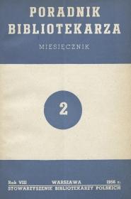 Poradnik Bibliotekarza 1956, nr 2