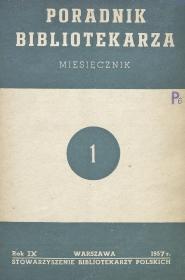 Okładka Poradnik Bibliotekarza 1957, nr 1