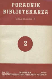 Poradnik Bibliotekarza 1957, nr 2