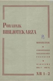 Poradnik Bibliotekarza 1958, nr 1-2
