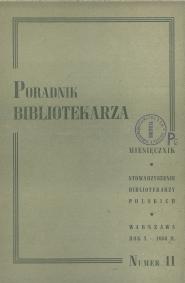 Poradnik Bibliotekarza 1958, nr 11